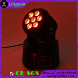 Mini 7X10W LED de haz principal móvil de la iluminación de DJ