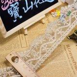 Merletto netto di nylon di immaginazione della guarnizione del ricamo del poliestere del merletto del commercio all'ingrosso 7cm della fabbrica di larghezza dell'oro del ricamo di riserva del filetto per l'accessorio dell'abito & le tessile domestiche (BS1060)