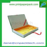 Rectángulo de papel impreso aduana de papel práctica del rectángulo del plegado en abanico del regalo
