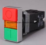 キー溝のブランドによって正方形照らされるヘッド押しボタンスイッチ