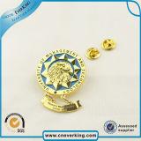 반짝임을%s 가진 그만두어진 디자인 연약한 사기질 금속 접어젖힌 옷깃 Pin