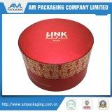Cajas de cartón impresas personalizadas de caja de regalo de tubo redondo con tapa