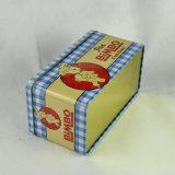 Caixa retangular do alimento do metal feito sob encomenda, caixa do metal, caixa do estanho do presente