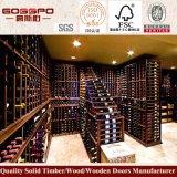 Mobiliário doméstico Armário de vinhos de madeira Estante de madeira para vinhos (GSP9-047)