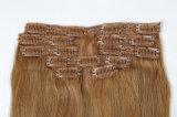 """毛の拡張22クリップのRemyを""""編む熱い販売の100%の人間の毛髪"""