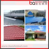 Плитка крыши длиннего цвета пяди Coated Corrugated от Китая