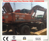 A máquina escavadora usada Japão da roda fêz Hitachi Ex160wd