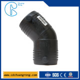 HDPE plástico de gas suministro de accesorios (codo)