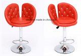 La mejor silla de la barra de la PU del diseño, taburete ajustable moderno del eslabón giratorio (LL-BC073)