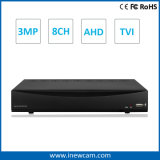 software concentrare Tvi/Ahd P2p DVR dell'allarme di video di 8CH 3MP