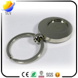 Heiße verkaufende runde Form-Münzen-Metallzink-Legierungs-Schlüsselkette mit Nickelplattierung