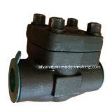 API602 forjó la válvula de verificación del pistón del extremo de cuerda de rosca del acero de carbón A105