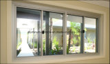 Châssis de fenêtre en aluminium glissant le guichet de glissement bon marché intérieur de modèle