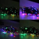 Luz multicolora accionada solar de la cadena de 200 LED para la decoración de la Navidad