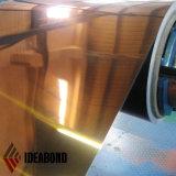 Feuille d'aluminium anodisé multicolore-or, argent, cuivre, thé, miroir brun