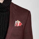 La chaqueta más nueva del invierno del Knit de Borgoña del diseñador 2016