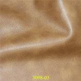 Cuero material de los muebles de la PU del Faux para la cubierta de asiento del sofá