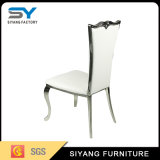 Cena de la silla del metal de la plata de los muebles de la silla para la venta