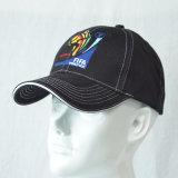 Gorra de béisbol de la tela cruzada de algodón bordado de la manera Negro