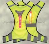 Diodo emissor de luz respirável ultra fino que funciona a veste reflexiva