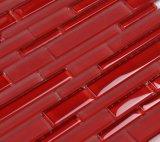 赤いカラー正方形のプールは工場価格のモザイク・ガラスをタイルを張る