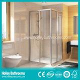 Sitio de ducha simple excelente con la puerta con bisagras doble (SE324N)