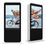 Напольный пол 55 дюймов стоя индикация рекламировать экрана LCD касания цифров