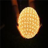 Luz da corda do diodo emissor de luz da flor da esfera para a decoração ao ar livre da decoração do Natal