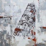 Картина маслом воспроизводства с полагаясь башней Pisa