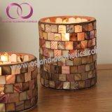 卸し売り広い口のガラスクリスマスのモザイク蝋燭ホールダーの蝋燭のコップ