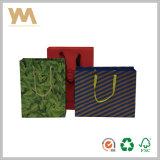 Bolsa de papel de lujo de gama alta de encargo de las compras para la ropa