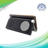 Altofalante preto de Bluetooth do suporte da forma com FM