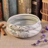 Suporte cerâmico do frasco da vela do mármore original da forma da bacia do projeto