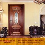 Дверь комнаты деревянной двери Tempered стекла нутряная деревянная (GSP3-006)