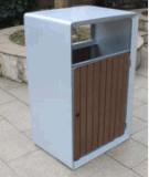 이용된 정원 옥외 쓰레기 통 장식적인 쓰레기통