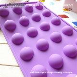 Graxa semicircular dos moldes do cozimento do silicone do cofre forte DIY da violeta 24 roxos
