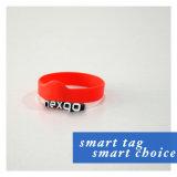O silicone de RFID NFC Tickets o Wristband esperto tecido festival com microplaqueta MIFARE 1K clássico