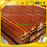 Grano de madera de aluminio de extrusión de perfiles para Muebles Decoración