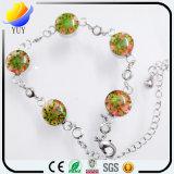 Bracelet pendant de fleur de trèfle de lame du charme 4