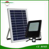 120LED PIRの動きセンサーの洪水ライト太陽電池パネル6V 6Wは6000mAh電池が付いているフラッドライトを防水する
