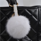 Шарик шерсти кролика для цепи шарика шерсти шерсти POM Poms Keychain ключевых цепей ключевой