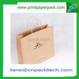 Anunció el bolso de compras impreso de los bolsos del papel de la cartulina