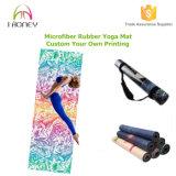 Estera impresa de la yoga de Microfiber, talla perfecta para la estera de la yoga - respetuosa del medio ambiente, absorbente estupendo, ultra suave, antideslizante