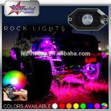 Lumière tous terrains de roche de Bluetooth de couleur de la lumière RVB de roche de DEL de contrôle de l'instantané changeable DEL de musique pour des véhicules