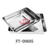 Disco profondo del tovagliolo di servizio dell'acciaio inossidabile (FT-00605)