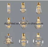 Décor économiseur d'énergie de cadeau de Noël d'ampoule du feu d'artifice DEL de l'ampoule E27 220V 3W de ciel d'étoile de diamant de MTX G95 de filament étoilé de la lampe DEL Edison