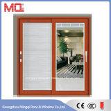 Graue Farben-Aluminiumschiebetür mit doppeltem Glas Mqd-01