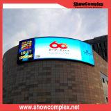 광고를 위한 P10 상업적인 구부려진 발광 다이오드 표시