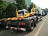 10 Räder25 Cbm-Hochleistungshaken-Arm-LKW mit verbundenem Kompresse-Abfall-Kasten