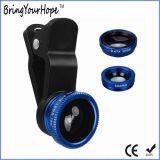 Всеобщий зажим 3 в 1 объективе Fisheye камеры мобильного телефона широком Macro (XH-LF-001)